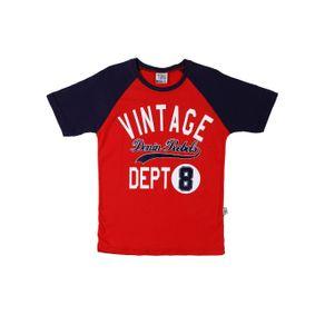 Camiseta Manga Curta Juvenil para Menino - Vermelho 10