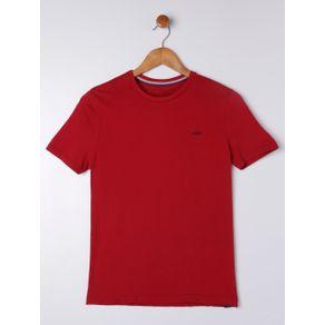 Camiseta Manga Curta Juvenil para Menino - Vermelho 18