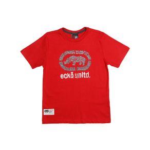Camiseta Manga Curta Juvenil para Menino - Vermelho 12