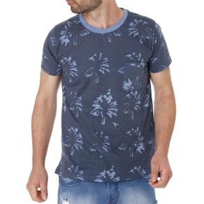 Camiseta Manga Curta Masculina Azul GG