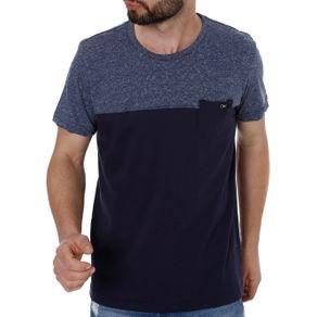 Camiseta Manga Curta Masculina Azul M