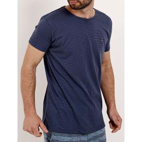 Camiseta Manga Curta Masculina Azul P