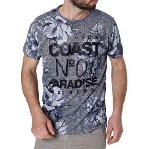 Camiseta Manga Curta Masculina Azul Marinho G
