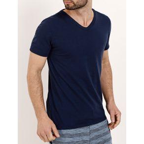 Camiseta Manga Curta Masculina Azul Marinho GG