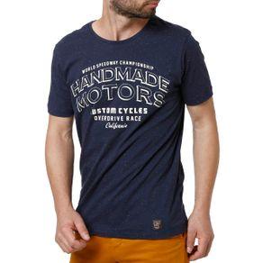 Camiseta Manga Curta Masculina Azul Marinho M