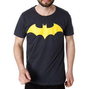 Camiseta Manga Curta Masculina Batman Cinza P