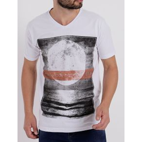 Camiseta Manga Curta Masculina Branco P
