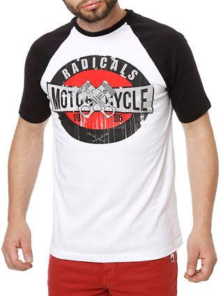 Camiseta Manga Curta Masculina Branco/preto