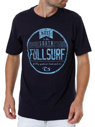 Camiseta Manga Curta Masculina Full Surf Azul Marinho