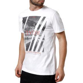 Camiseta Manga Curta Masculina Habana Branco G