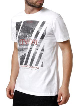 Camiseta Manga Curta Masculina Habana Branco
