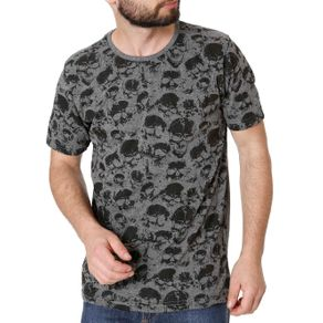 Camiseta Manga Curta Masculina Local Cinza GG