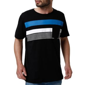 Camiseta Manga Curta Masculina no Stress Preto M