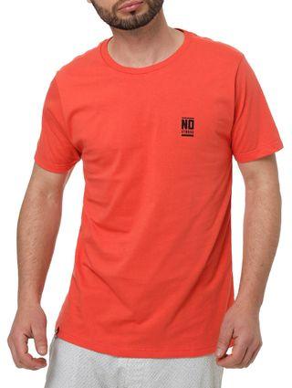 Camiseta Manga Curta Masculina no Stress Salmão