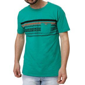 Camiseta Manga Curta Masculina no Stress Verde P