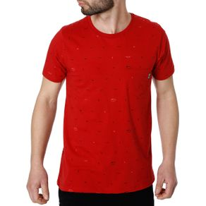 Camiseta Manga Curta Masculina no Stress Vermelho G