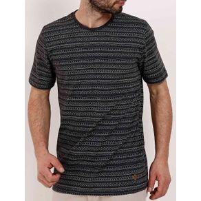 Camiseta Manga Curta Masculina Preto GG