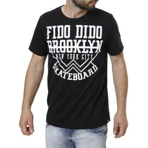 Camiseta Manga Curta Masculina Preto M