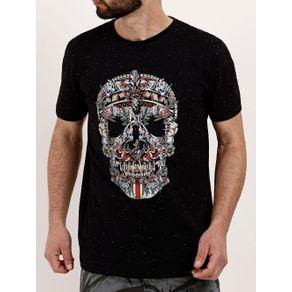 Camiseta Manga Curta Masculina Preto P