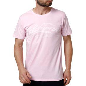 Camiseta Manga Curta Masculina Rosa G