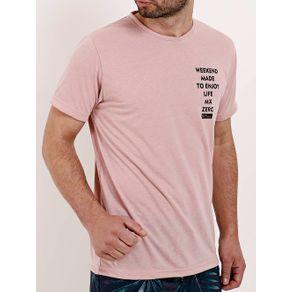 Camiseta Manga Curta Masculina Rosa P