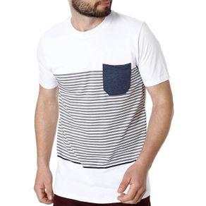 Camiseta Manga Curta Masculina Rovitex Branco GG