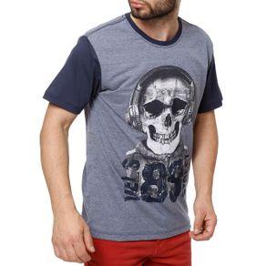 Camiseta Manga Curta Masculina Vels Azul G