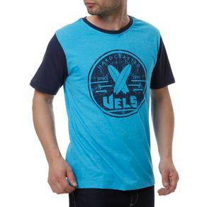 Camiseta Manga Curta Masculina Vels Azul M
