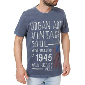 Camiseta Manga Curta Masculina Vels Azul Marinho GG