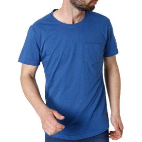 Camiseta Manga Curta Masculina Vels Azul P