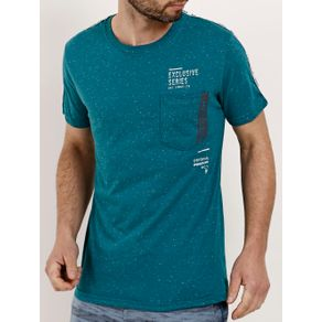 Camiseta Manga Curta Masculina Verde G