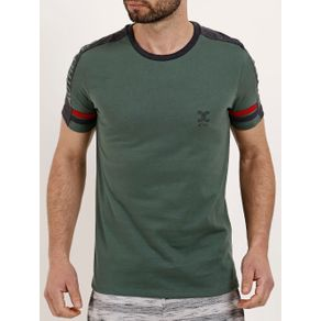 Camiseta Manga Curta Masculina Verde GG