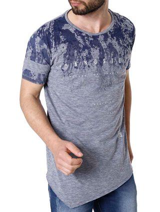 Camiseta Manga Curta Masculino Gangster Azul