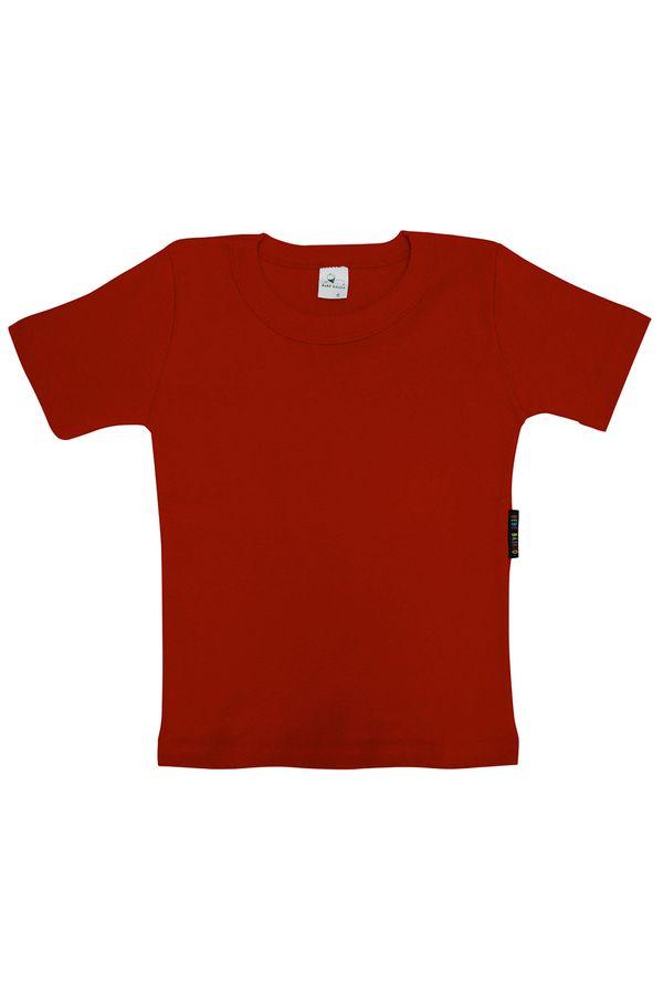 Camiseta Manga Curta Ribana 2 a 7 Anos - Bb Básico 06 - VERMELHO