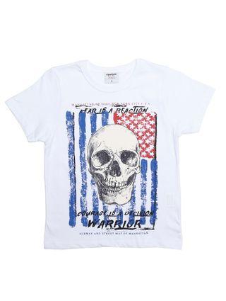 Camiseta Manga Curta Rovitex Infantil para Menino - Branco