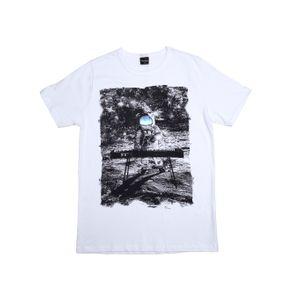 Camiseta Manga Curta Rovitex Juvenil para Menino - Branco 12