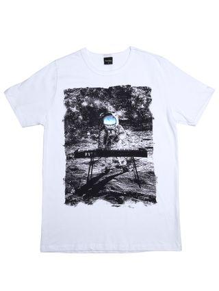 Camiseta Manga Curta Rovitex Juvenil para Menino - Branco