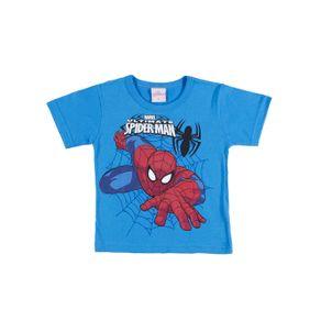 Camiseta Manga Curta Spider Man Infantil para Menino - Azul 1