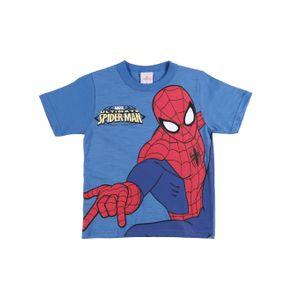 Camiseta Manga Curta Spider Man Infantil para Menino - Azul 10