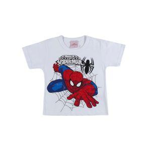 Camiseta Manga Curta Spider Man Infantil para Menino - Branco 1