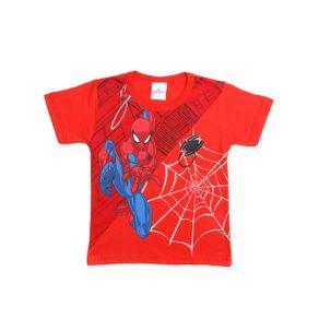 Camiseta Manga Curta Spider Man Infantil para Menino - Vermelho 3