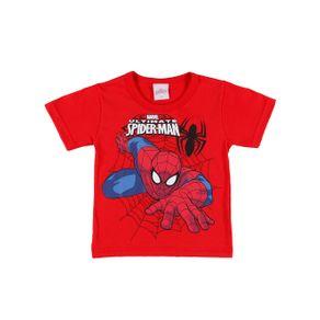 Camiseta Manga Curta Spider Man Infantil para Menino - Vermelho 1