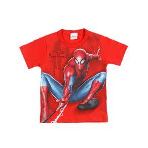 Camiseta Manga Curta Spider-Man Infantil para Menino - Vermelho 4
