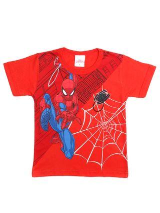 Camiseta Manga Curta Spider Man Infantil para Menino - Vermelho
