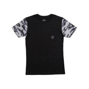 Camiseta Manga Curta Vels Juvenil para Menino - Preto 12