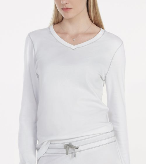 Camiseta Manga Longa 21051 Branco - G