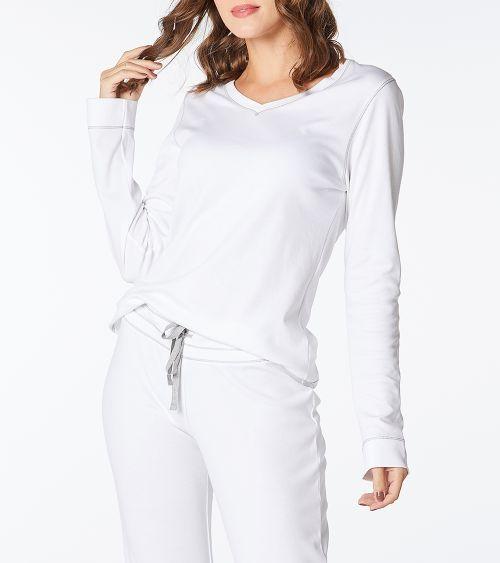 Camiseta Manga Longa 21051 Branco - GG
