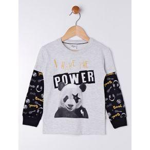 Camiseta Manga Longa Infantil para Menino - Cinza 2