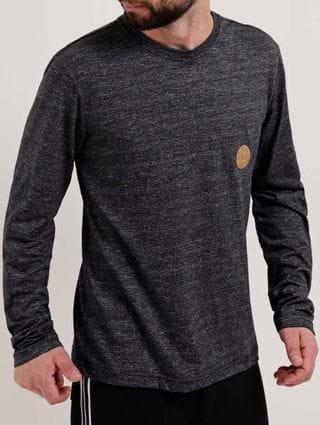 Camiseta Manga Longa Masculina Vels Preto