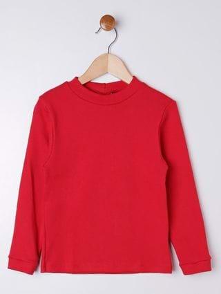 Camiseta Manga Longa Rovitex Infantil para Menino - Vermelho